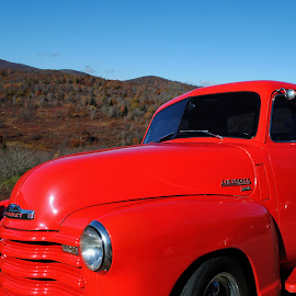 Chevrolet by Andrew Kamberg - Transportation Automobiles ( parkway, chevrolet, truck, fall, blue ridge parkway, leaves, chevy )
