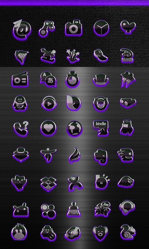 icon pack HD 3D glow purple Screenshot 1