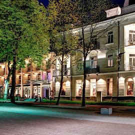 08. I teraz zaczyna się życie by Marek Rosiński - Buildings & Architecture Office Buildings & Hotels ( nightlife, night, hotel, night lights, night scene, night photography )