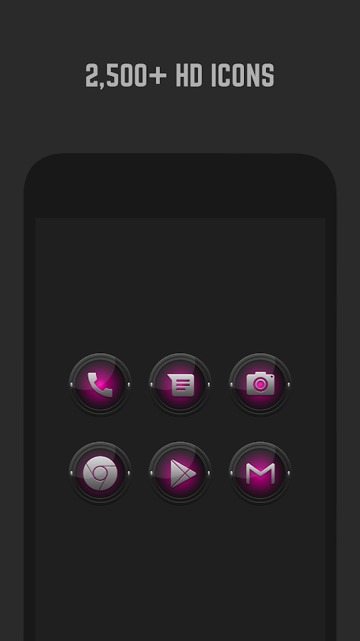 Black and Pink Icon Pack Screenshot