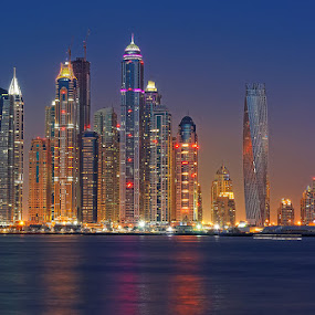 Dubai Marina by Zdenka Rosecka - City,  Street & Park  Skylines ( Urban, City, Lifestyle )