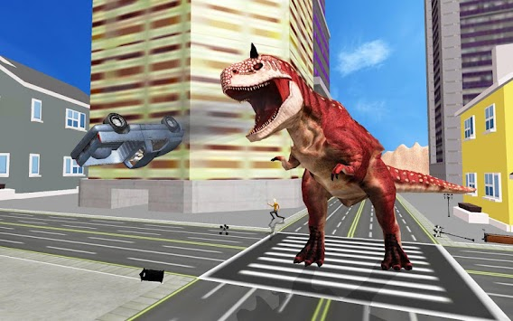 Super Dinosaur Attack Dino Robot Battle Simulator APK screenshot thumbnail 2