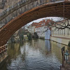 Pod Karlovým mostem by Miloš Stanko - Buildings & Architecture Public & Historical ( kampa, vltava, čertovka, karlův most, prague )