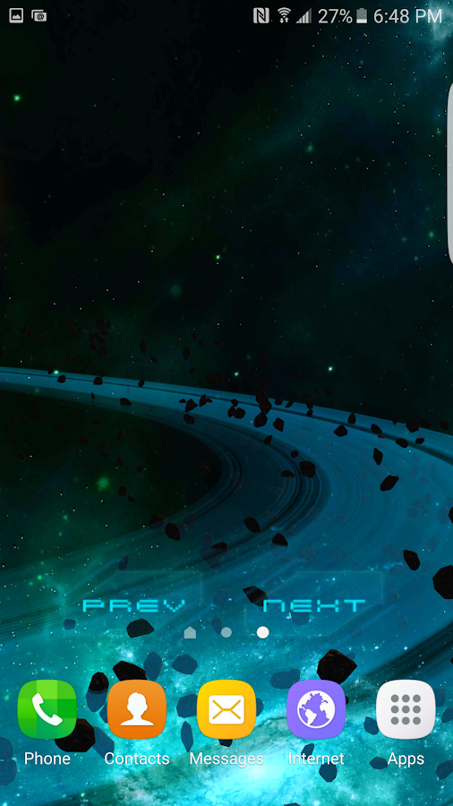 3D Galaxy Pack Live Wallpaper Screenshot 2