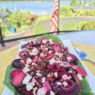 Pickled Beets and Veggie Salad with Feta and Pecans