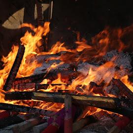 Fire by Paramasivam Tharumalingam - Abstract Fire & Fireworks
