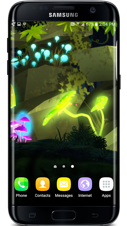 Mushroom Firefly Jungle LWP Screenshot 5