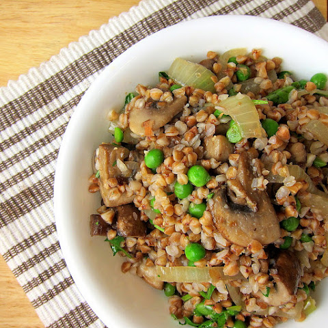 Buckwheat Kasha with Mushrooms and Onions – 20 Minute Side Dish