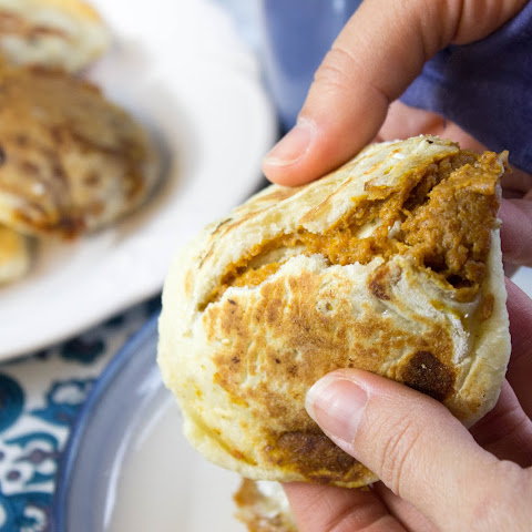Pumpkin Pie Stuffed Hotteok (Korean pancakes)