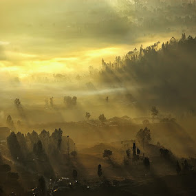 Warm Rays by Agoes Antara - Landscapes Mountains & Hills