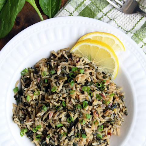 Greek Spinach Rice - Spanakorizo