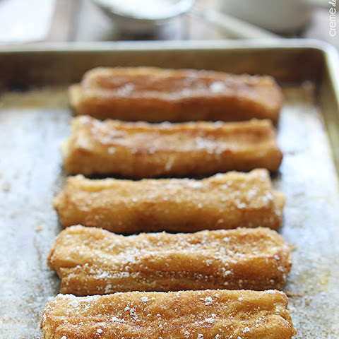 20 Minute Cream Cheese Stuffed Churros