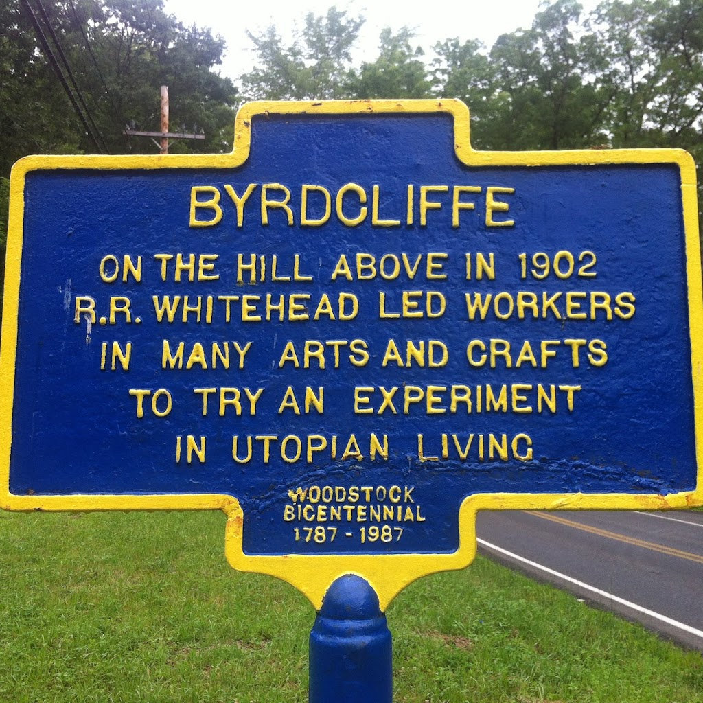 Byrdcliffe - On the hill above in 1902 R.R. Whitehead led workers in many arts and crafts to try an experiment in utopian living.