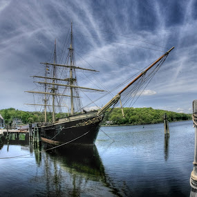 mystic seaport by Liz Okon - Landscapes Waterscapes