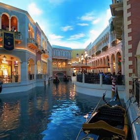 Venetzia Vegas by Vijay Govender - Buildings & Architecture Architectural Detail ( water, las vegas, romantic, venice, architecture )