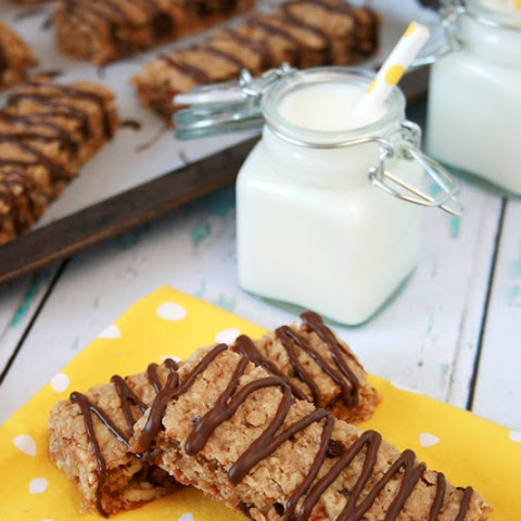 Nutty Chocolate Chip Chewy Granola Bars