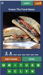 Food guessing games - screenshot