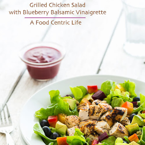 Grilled Chicken Salad with Blueberry Balsamic Dressing