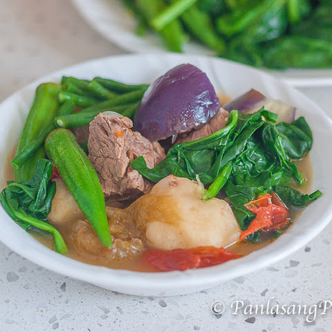 Beef Sinigang sa Kamias with Gabi (Beef in Sour Broth with Taro)
