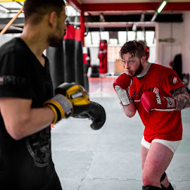MMA Sparring - 001 by Russell Dixon - Sports & Fitness Boxing ( samyang, muay thai, thai boxing, 35mm, k1, rokinon, vdslr, boxing, mixed martial arts, lightroom, mma, a7s, kickboxing )