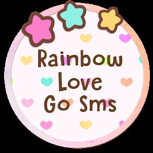 Cover art Rainbow Love GO SMS