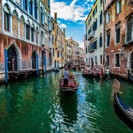 San Marco by Aamir DreamPix - City,  Street & Park  Historic Districts ( gondola, riverside, rivers, san marco, canal, italy, river )