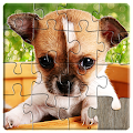 Dogs Jigsaw Puzzles Games Kids APK for Bluestacks