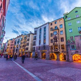 Innsbruck Austria by Neil Hannam - City,  Street & Park  Street Scenes