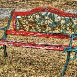 Old Bench by D.M. Russ - Artistic Objects Other Objects