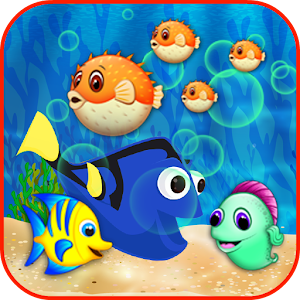 Blue Tang Fish Bubble Shooter Icon