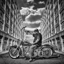 Monkey Bars by Apollo Reyes - Instagram & Mobile iPhone ( harley davidson, sky, bike, buildings, motorcycle )