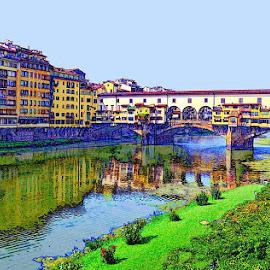 Digital Florence fantasy by Francis Xavier Camilleri - Digital Art Places
