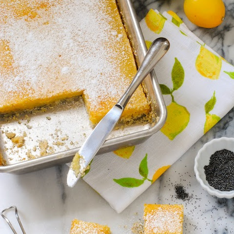 Meyer Lemon Bars with Poppyseed Crust