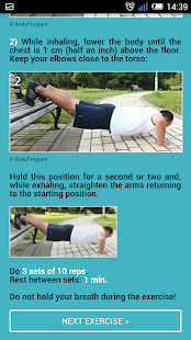 Push-up Chest Workout Routine - screenshot