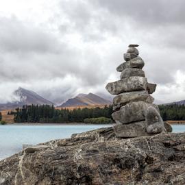 Lake Tekapo by Vibeke Friis - Nature Up Close Rock & Stone ( hdr, petroform, stone stacks,  )