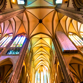 Cologne Cathedral by Pravine Chester - Digital Art Places ( interior, photograph, digital art, architecture, digital painting, manipulation )