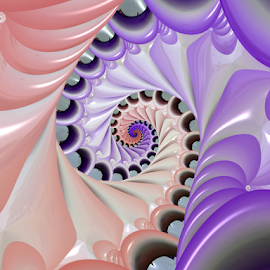 Spiral 34 by Cassy 67 - Illustration Abstract & Patterns ( pastel, shell, abstract art, swirl, digital art, spiral, fractal, digital, fractals )