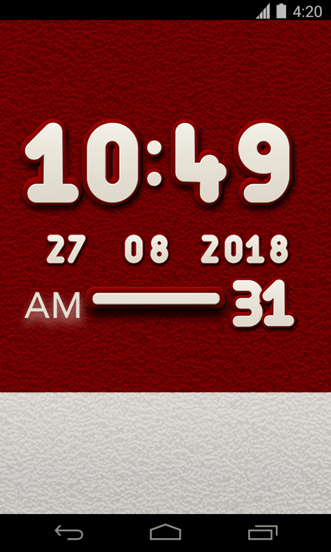 Campus Digital Clock Widget Screenshot 1