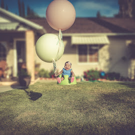 Float by Max Juan - Babies & Children Babies ( makayla, balloons, float, portrait )