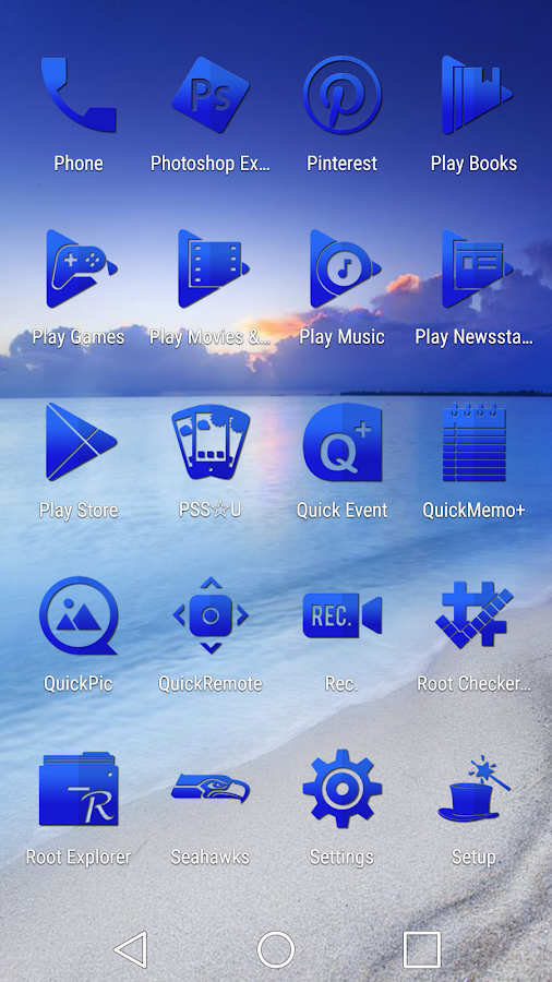 Tap Blue - Icon Pack Screenshot 4