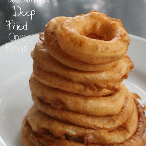 Easy Beer Battered Onion Rings