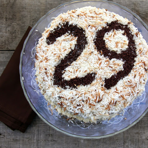 Triple Layer Carrot Cake With Cream Cheese Icing And Toasted Coconut