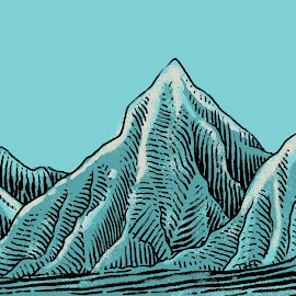 mountains by August Rats - Illustration Products & Objects