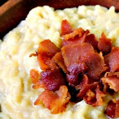 White Cheddar Orzo with Bacon