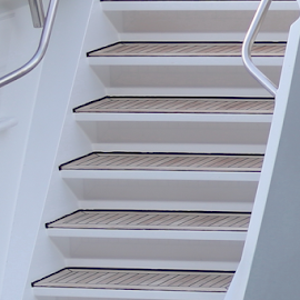 Stairs in the breeze by Neil H - Transportation Boats ( boat stairs, overboard, yacht, teak decking, hull, engineering, designed stairs, decking, deck stairs, grp, stairs, stairway, luxury yacht stairs, designs, deck, marine, white, transom, steps, transom stairs, teak, luxury, boat stairway, staircase, chalked decking, catamaran, step,  )