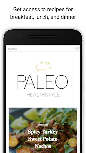 Paleo Healthstyle Fitness app screenshot for Android