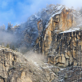 Winter Snow by Randi Hodson - Landscapes Mountains & Hills ( mountain, snow, rough, rocks,  )