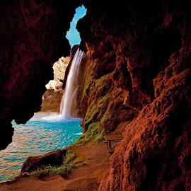 Havasu Falls by Debra Melton - Landscapes Waterscapes ( havasu, supai, waterfall, havasu falls, grand canyon )