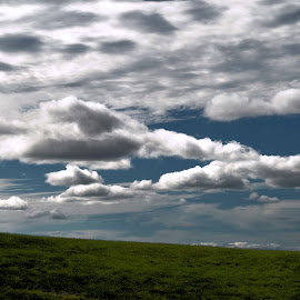 Contemplation by Donna Seymour - Landscapes Cloud Formations