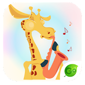 GO Keyboard Giraffe Sticker APK for Bluestacks